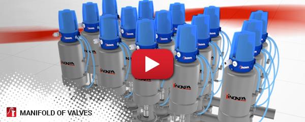 Manifold of valves
